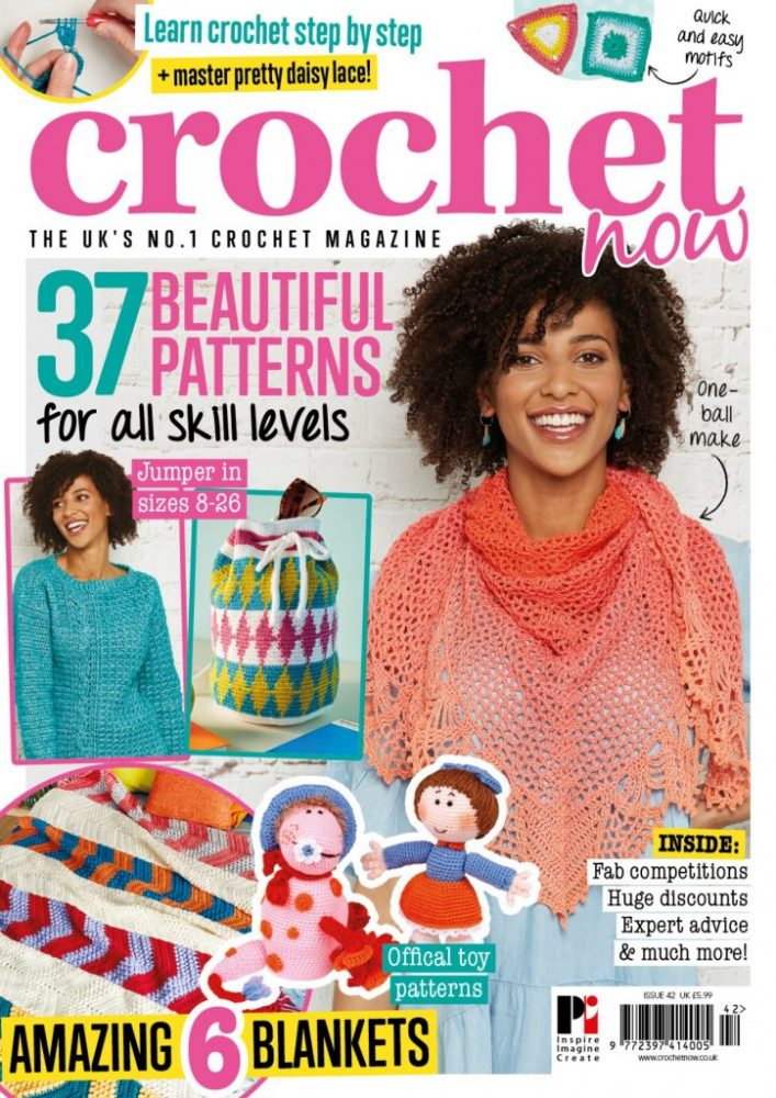 Take a look inside the brand-new issue! - image CN42-COVER-ONLINE-724x1024 on https://knitting-crocheting-yarn.com