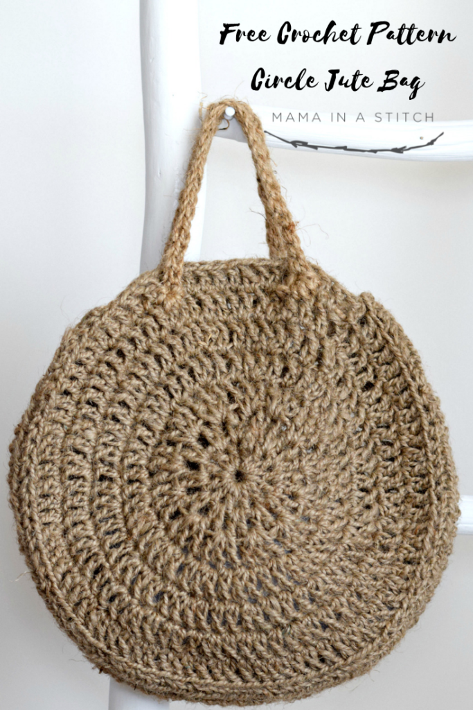 How To Crochet A Summer Circle Bag - image Free-Crochet-Pattern-Circle-Jute-Bag-683x1024 on https://knitting-crocheting-yarn.com