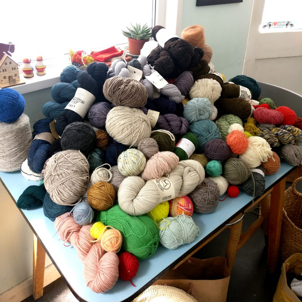 Kate's Stash Spring Clean Round Up! - image Kitchen-Pile-1024x1024 on https://knitting-crocheting-yarn.com