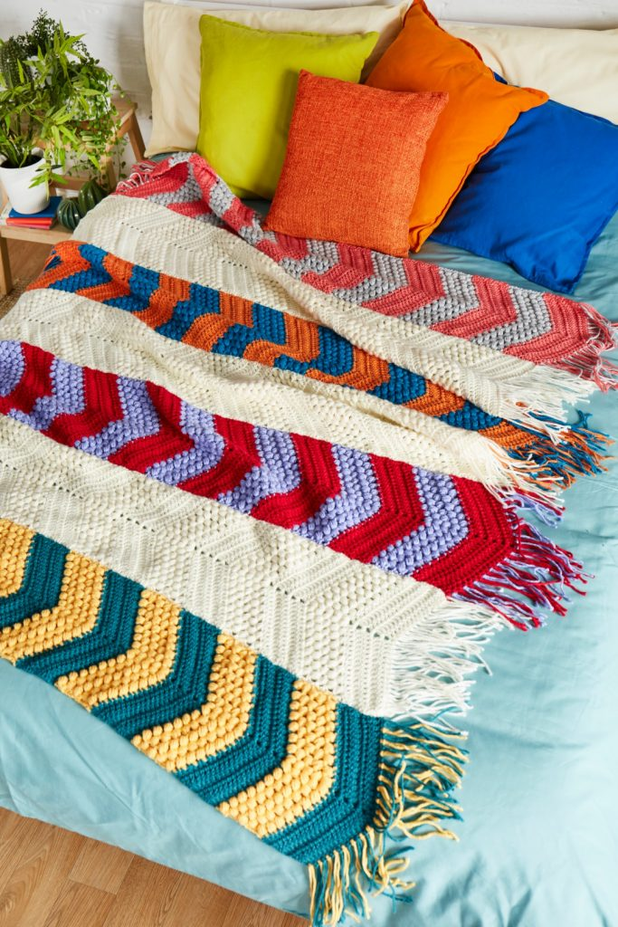 Take a look inside the brand-new issue! - image Veronika-Cromwell-Santiago-Chevron-Blanket-Stylecraft-Special-Chunky-1-683x1024 on https://knitting-crocheting-yarn.com