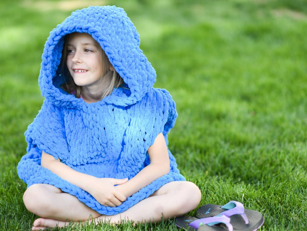 How To Make A Hooded Beach Cover-Up Poncho with Loop Yarn - image Beach-Hooded-Cover-Up-Loop-Yarn-Pattern-3-1024x771 on https://knitting-crocheting-yarn.com