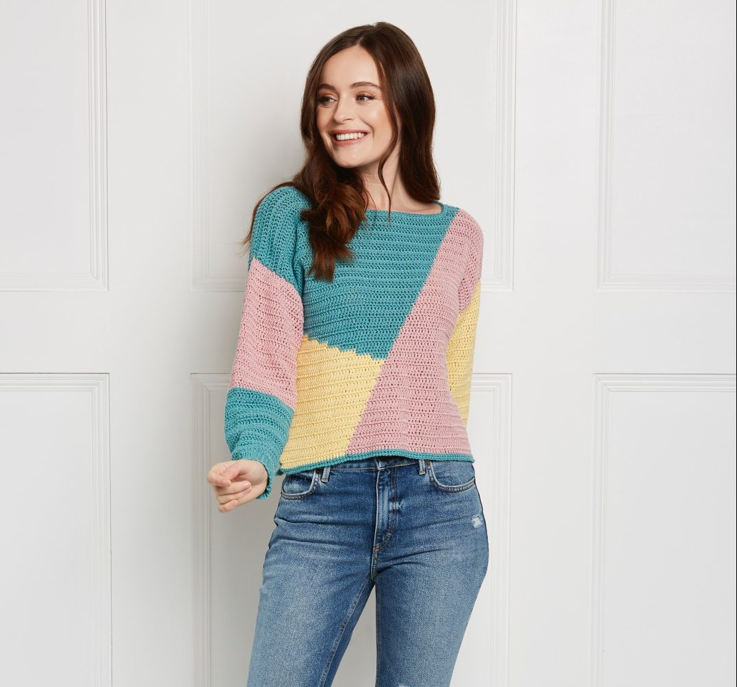 Take a look inside our new look issue! - image Emily-Platt-Falling-Blocks-Jumper-King-Cole-Bamboo-Cotton-DK-1-e1562319447867 on https://knitting-crocheting-yarn.com