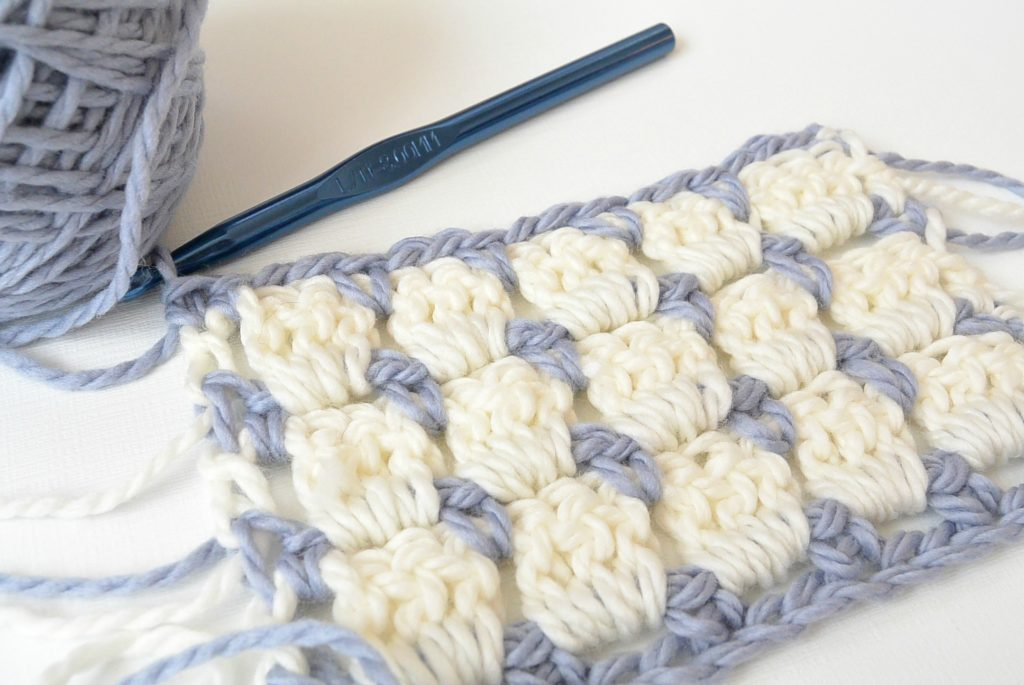 Pretty & Simple Crochet Stitches To Try - image How-To-Crochet-Block-Stitch-5-1024x685 on https://knitting-crocheting-yarn.com