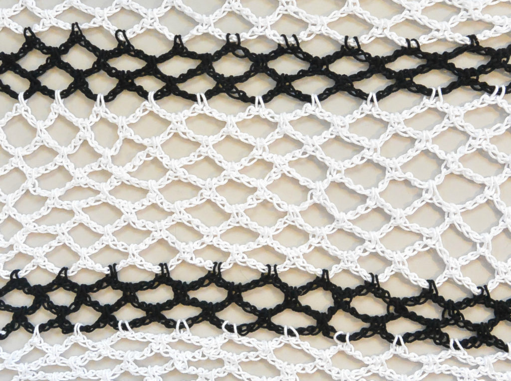 Pretty & Simple Crochet Stitches To Try - image How-To-Crochet-Diamond-Mesh-Stitch-1024x764 on https://knitting-crocheting-yarn.com