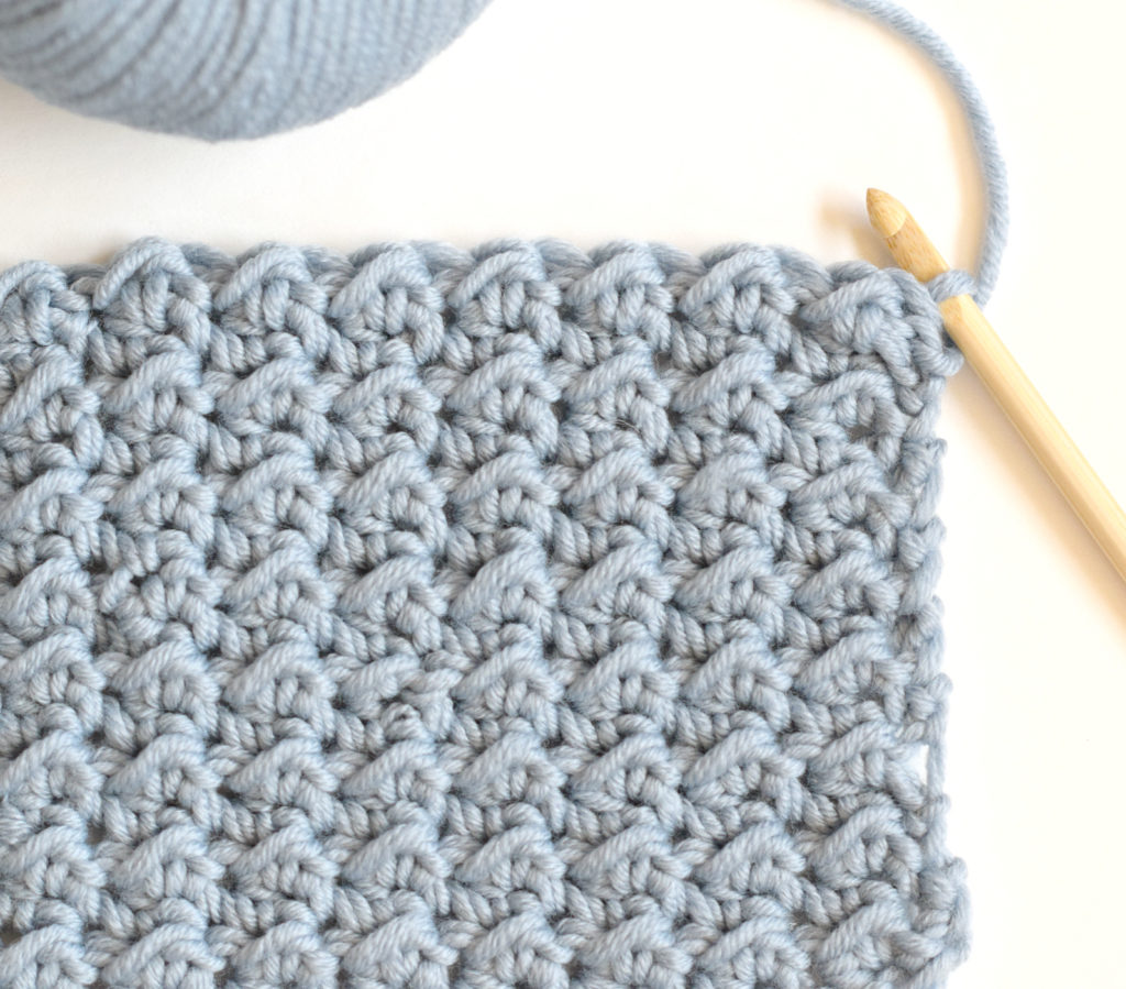 Pretty & Simple Crochet Stitches To Try - image How-To-Crochet-Even-Moss-Stitch-2-1024x899 on https://knitting-crocheting-yarn.com