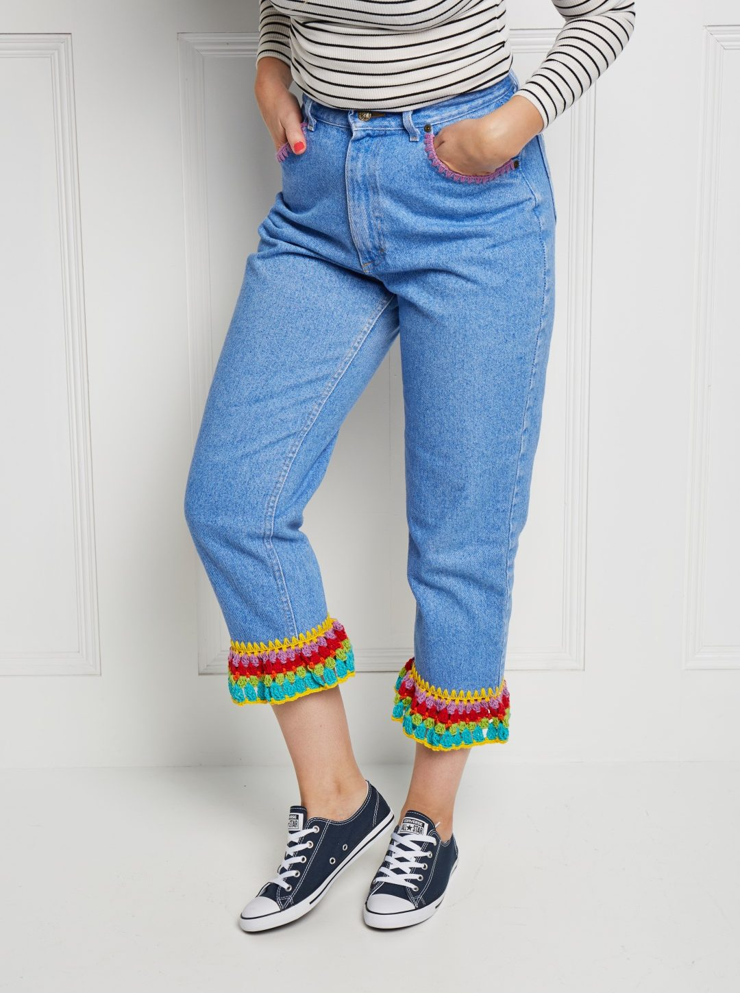 Take a look inside our new look issue! - image Katie-J-Crochet-Hack-Jeans-2-e1562319190261 on https://knitting-crocheting-yarn.com