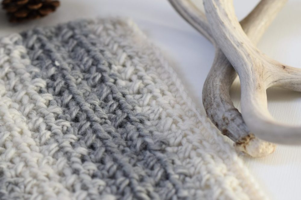 Pretty & Simple Crochet Stitches To Try - image Lion-Brand-Scarfie-Easy-Blanket-Sweater-Pattern-1024x683 on https://knitting-crocheting-yarn.com