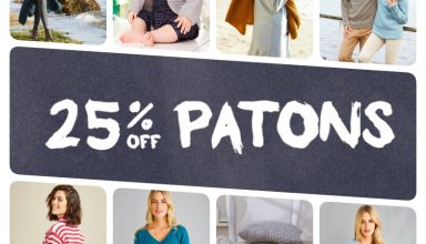 Crochet Now Magazine- new issue 48 on sale this week - image patons-discount-collage-384x220 on https://knitting-crocheting-yarn.com