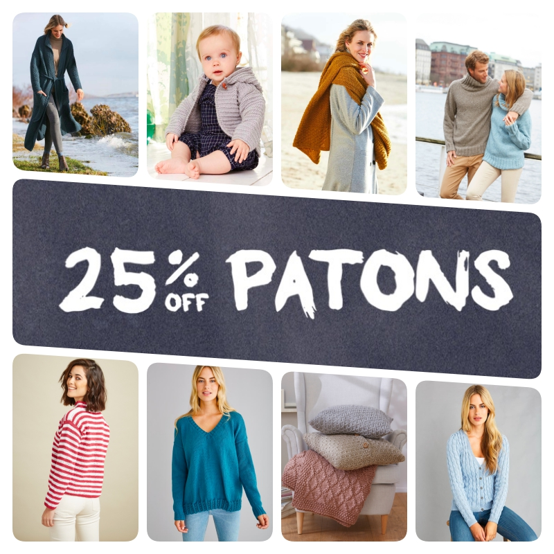 Don't miss 25% off Patons yarn! - image patons-discount-collage on https://knitting-crocheting-yarn.com