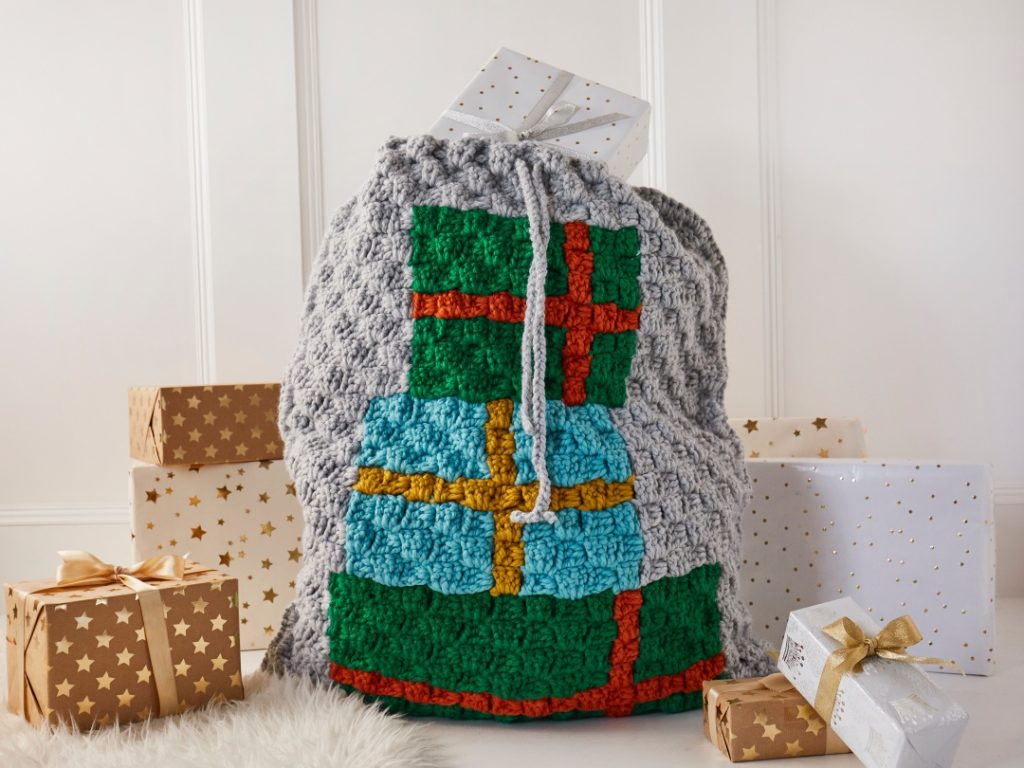 Crochet Now Magazine- new issue 48 on sale this week - image Jessica-Amey-Christmas-Present-Sack-Cygnet-Seriously-Chunky-2-1024x768 on https://knitting-crocheting-yarn.com