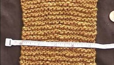 Basic Knitting Tips & Techniques : How to Measure Gauge in Garter Stitch - image 1583457492_hqdefault-384x220 on https://knitting-crocheting-yarn.com